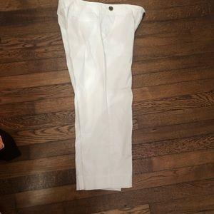EUC Talbots White cropped pants